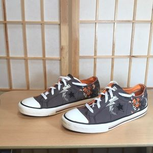 Converse One-Star Gray and Orange Sneakers